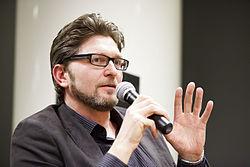 Bergsveinn Birgisson fra Island, nomineret til Nordisk Rads litteraturpris 2012 til litteraturarrangement hos Kulturkontakt Nord i Finland.jpg