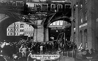 Gleisdreieck (Berlin U-Bahn) - Gleisdreieck accident, 1908