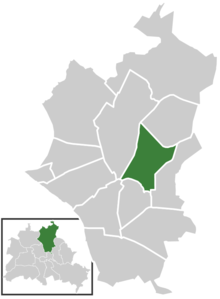 Ligging van Blankenburg in het district Pankow