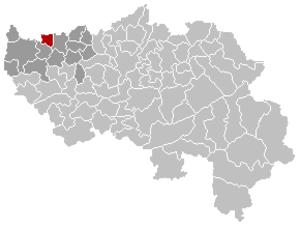 Berloz - Image: Berloz Liège Belgium Map