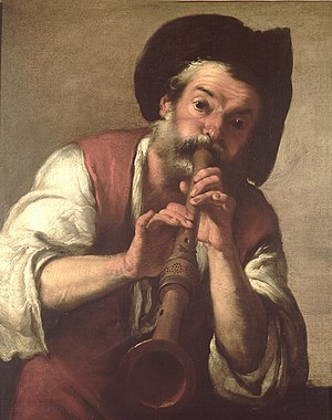 Bernardo Strozzi - The flute player