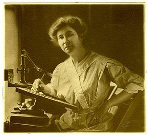 Bertha Jaques - Bertha Jaques in her studio, 1912