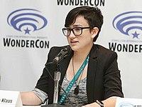 Bex Taylor-Klaus speaking at Wondercon in 2017.jpg
