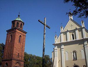 Biała Rawska - Church and belfry