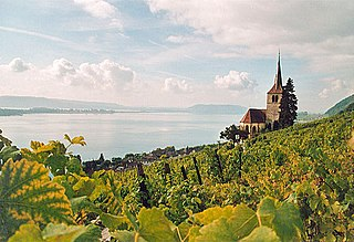 Lake Biel lake at Biel/Bienne, Canton of Bern, Switzerland