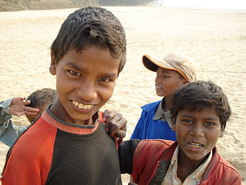 Children from a village in Bihar, India.