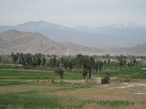 Rural Bihsud District, looking north from the outskirts of Jalalabad