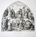 Bilder-Cyclus - Aus dem Leben Karls des Grossen, V. Taufe Wittekind's, von Alfred Rethel, gez. J. Kehren.jpg