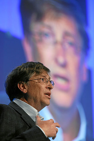 Bill Gates - Gates delivers a speech at the World Economic Forum in Switzerland, January 2008.