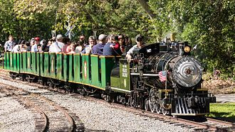Vasona Lake County Park - Billy Jones Railroad in Vasona Lake Park (2016)
