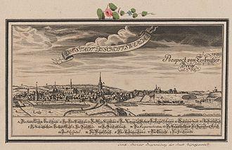 Bischofswerda - Historical view, about 1713