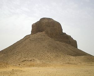 Pyramid of Amenemhat III (Dahshur) - Image: Black Pyramid of Amenemhat III