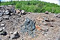 Black smoker rocks (sulfidic wad) (Helen Iron-Formation, Neoarchean, 2696-2749 Ma; Sir James Pit, Eleanor Iron Range, Ontario, Canada) 5 (48069866801).jpg
