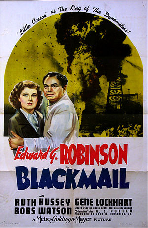 Blackmail (1939 film) - Theatrical release poster