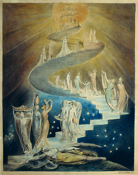 """La Scala di Giacobbe"" di William Blake, 1805"