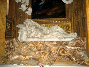 Gian Lorenzo Bernini's statue of the Blessed L...