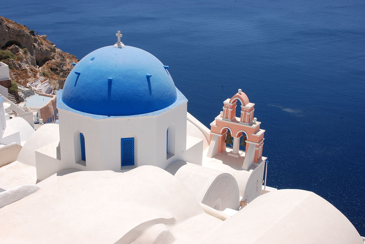 File Blue Domed Church Oia Santorini Greece 20 July