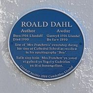Blue plaque for Roald Dahl