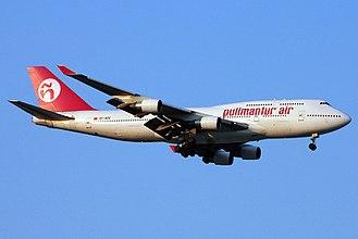 Wamos Air - Pullmantur Air Boeing 747-400 in the 2003 livery