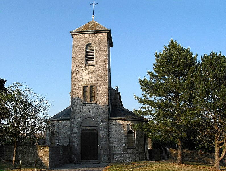 Bois-et-Borsu   (Belgium), the St. Lambertus church (XIIth century).