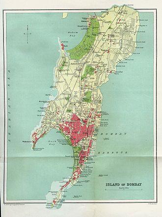 South Mumbai - Bombay in 1909