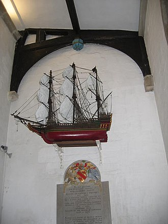 Votive ship - Image: Bonaventure, St Mary's Church, Painswick geograph.org.uk 288848