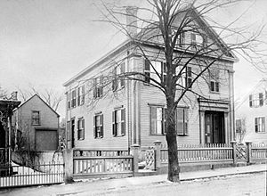 Lizzie Borden House - The Borden house at 92 Second Street in the late 1800s