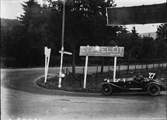 Boris Ivanowski - Ivanowski in 1930 for the 24 Hours of Spa, on Alfa Romeo 6C 1750.
