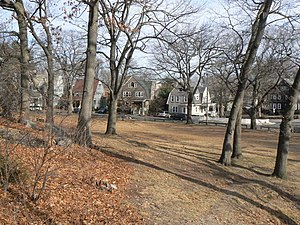 Savin Hill - A view into the neighborhood from the park encompassing the top of Savin Hill