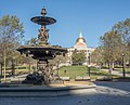 Boston Common fountain and state house (36030).jpg