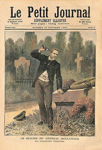Georges Ernest Boulanger - Boulanger's suicide, as reported in Le Petit Journal (10 October 1891)