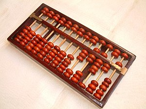 Abacus - A Chinese abacus, Suanpan