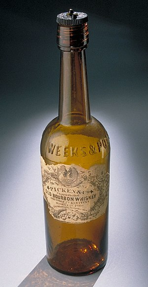 Bourbon whiskey - Nineteenth century bourbon bottle