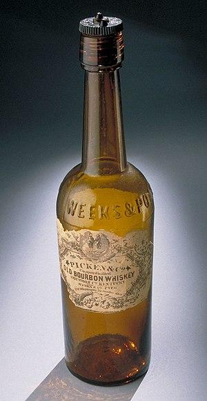 Bourbon whiskey - Nineteenth century bourbon bottle
