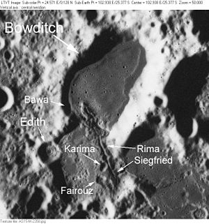 Bowditch (crater) - Image: Bowditch AS15 M 2358 LTVT