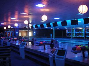 English: The first bowling alley in kabul, Afg...