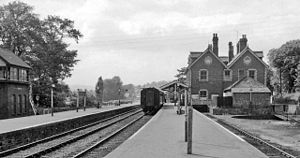 Brecon and Merthyr Tydfil Junction Railway - Brecon Free Street station, looking west towards Neath in 1962