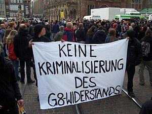 Demonstration gegen Razzien gegen G8-Gegner, 9...