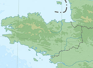Operation Cycle - Image: Bretagne topographic blank map