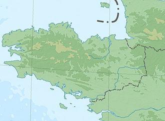 Operation Ariel - Image: Bretagne topographic blank map