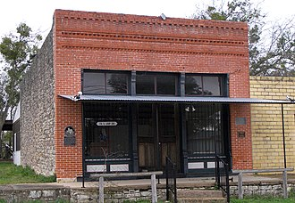 National Register of Historic Places listings in Burnet County, Texas - Image: Briggs state bank 2009
