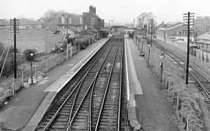 Brimsdown railway station - The station in 1961