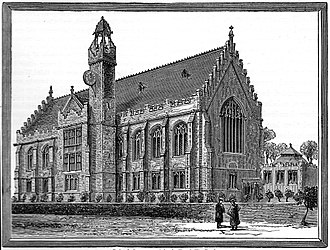 Bristol Grammar School - Bristol Grammar School at Tyndall's Park in 1882