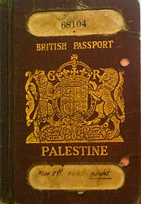 British Mandate Palestinian passport
