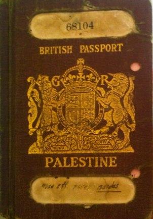British Mandate Palestinian passport