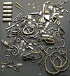Selection of items from the Cuerdale Hoard