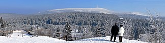 Brocken (1.141,1m): höchster Berg im Harz