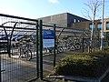 Brompton Academy, Gillingham, cycle cage 7568.jpg