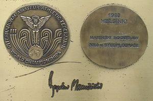 Bogusław Mamiński - Image: Bronisław Maminski medal & autograph