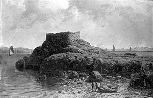 Fort Wetherill - Fort Dumpling, Rhode Island by George L. Clough, Brooklyn Museum